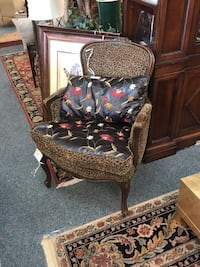 Custom Leather and Animal Print Armchair  Tulsa, 74105