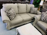 Brand new 2pc sofa loveseat with showood on sale  Toronto, M9W 1P6