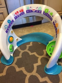 baby's white purple and blue activity center