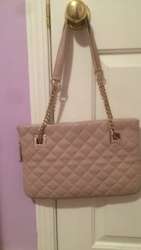beige leather shoulder bag-Calvin Klein as good as new. It's real leather. Calgary, T3J 4R1