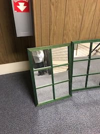 Mirrors with window panes