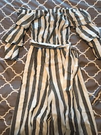 Off the shoulder striped jumpsuit Whitchurch-Stouffville, L4A 0H8