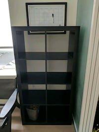 Ikea Kallax shelf unit black brown