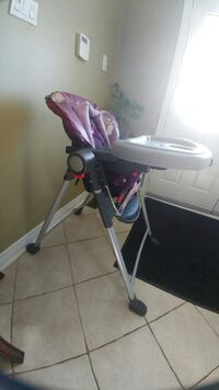 white, purple, and black highchair with feeding tr Whitby, L1M 2C1