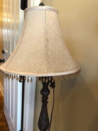 Ivory with beads around the shade and brass floor lamp Youngsville, 70592