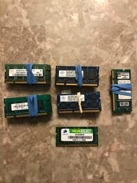 DDR2/DDR3 512MB-2GB RAM (VERY CHEAP)(LAPTOP/SODIMM) Edmonton, T5X
