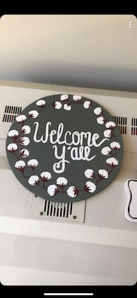 gray and white Welcome Y'all wooden signage Conway, 29527
