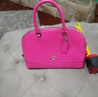pink leather 2-way handbag 2344 mi