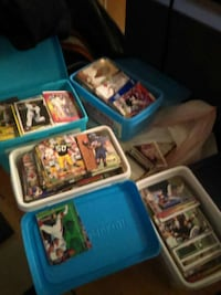 football trading cards collection in box Seattle, 98105
