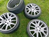 four gray 5-spoke car wheels with tires Hagerstown, 21740