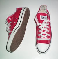 Converse All Stars Low Top Red Unisex Shoes Mens 7 Womens 8.5