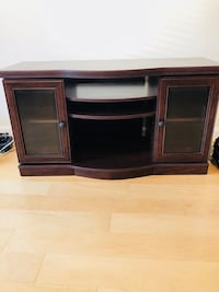 black wooden TV stand with cabinet Vienna, 22180