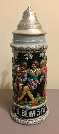Vintage German Beer Mug 1L