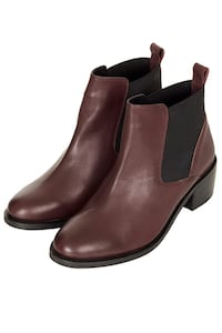 Topshop brown Chelsea boots Vancouver