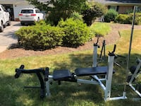 Weight Bench, weight plates and assorted bars Silver Spring, 20905