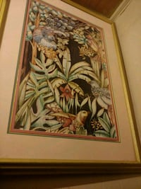 brown wooden framed painting of woman Abbeville, 70510