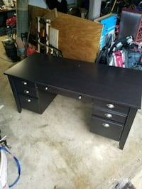 black wooden single pedestal desk Manassas, 20112