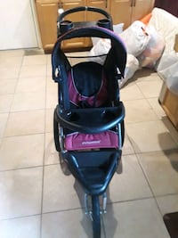 baby's black and purple jogging stroller 2369 mi