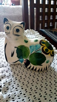 Vintage Mexico Hand  Painted Ceramic Cat Barrie, L4N 6C3