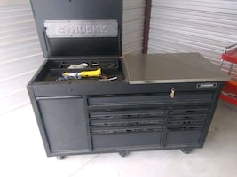 Huskey 11 drawer toolbox, with Stainless S.T./Buyer pays shipping.