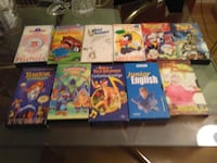lote de   11 cintas video vhs MADRID