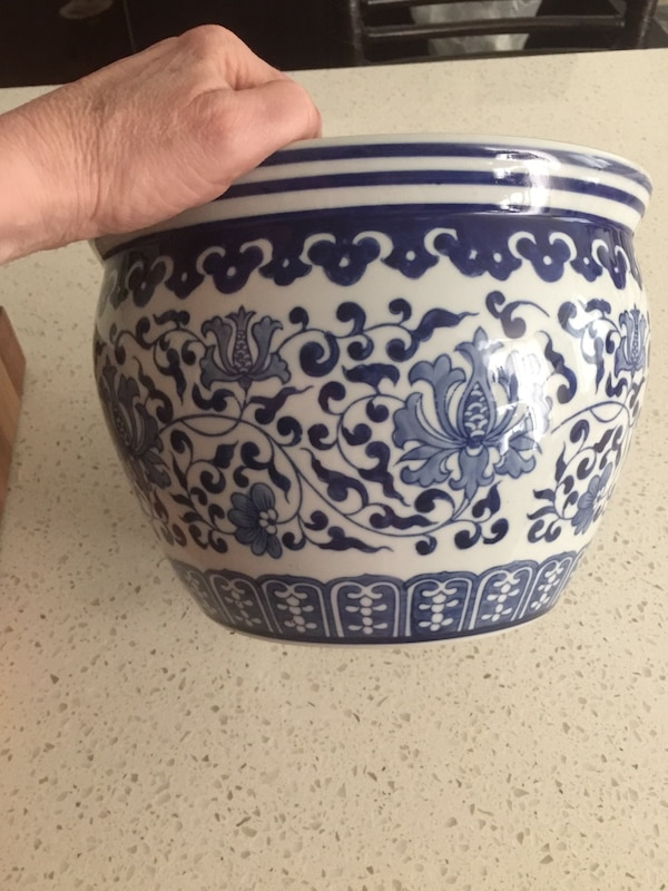 Ming Style Blue White Planters