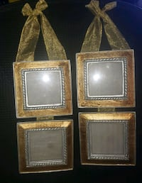 Gold duel picture frames wall hanging