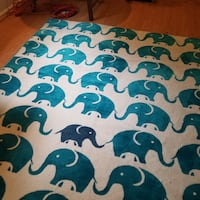 Awesome 8 x 10 elephant area rug – teal/turquoise Rockville
