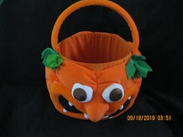 Trick or Treat Pumpkin Loot Basket