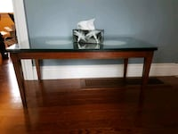 Wood coffee table with glass top Mississauga, L5E 2M6