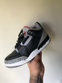 Jordan retro 3 black cement Og size 10 Reston, 20191