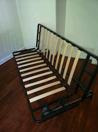 black and brown wooden bed frame Toronto, M8V 1M4