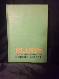 Plants An Introduction To Modern Botany Vintage Hardcover Book 1962 Text Book Castle Hayne
