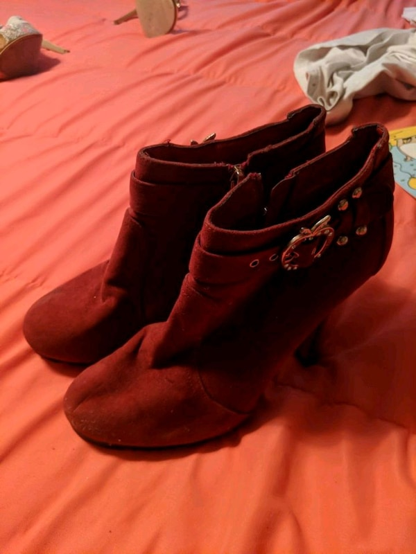ca6536c4782d Used pair of red suede boots for sale in San Jose - letgo