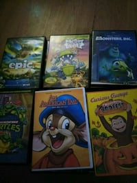 six assorted DVD movie cases Mobile, 36619