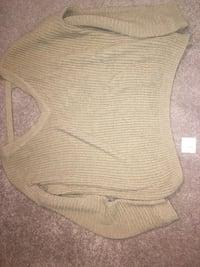 brown knit v-neck sweater Bloomfield, 53128