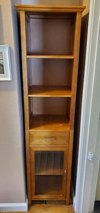 Cabinet with drawer and shelves