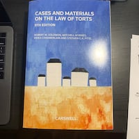 Cases and Materials on the Law of Torts 9th Ed, Solomon Toronto, M5S 2W8
