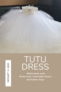 White Tutu dress.  King, L0G 1N0