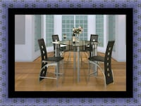 Counter height glass dining table with 4 chairs Washington, 20018