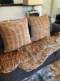 2 Large European Pillows and throw Whitby, L1N 5A2
