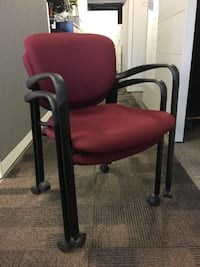 Guest Chair - Haworth Improv Rolling Stackable Visitor Markham