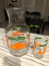 Orange Carafe and Kids Glass Cup Fairfax, 22032