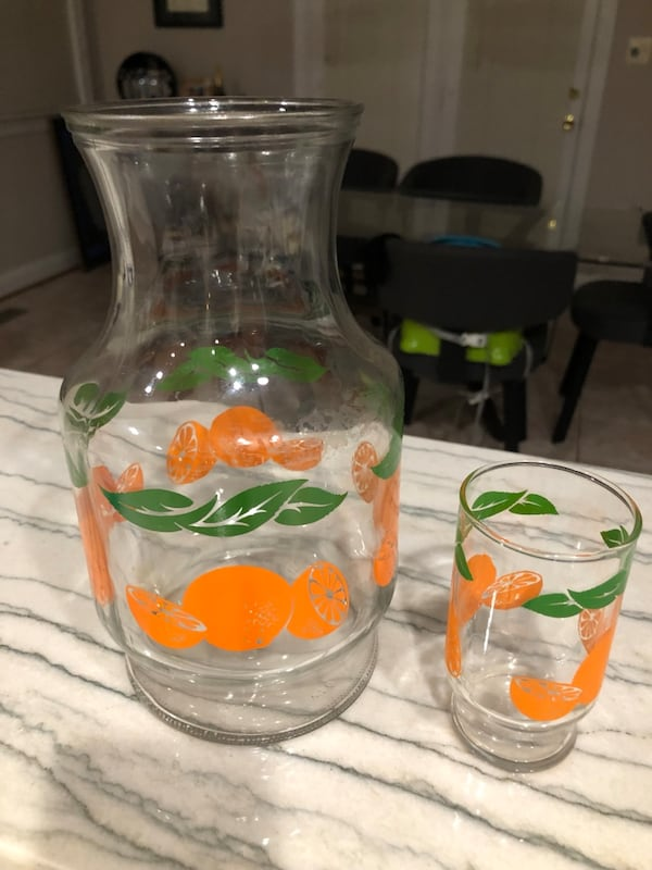 Orange Carafe and Kids Glass Cup 323dccb5-71d3-4b9b-a35e-bb32d10c52fc