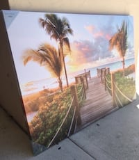 "'Relaxing in Paradise' Wall Art Canvas Decor (47""W x 32""H)(Brand New) Coconut Creek"