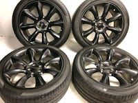 """20"""" black Dodge Charger wheels and tires take off  Warren, 48093"""