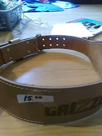 grizzly leather weight belt