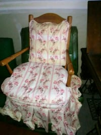 pink and white floral padded armchair Matthews, 28105
