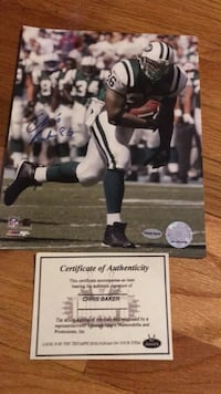 Chris Baker NFL trading card with autograph
