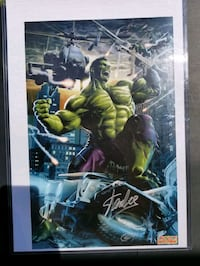Incredible Hulk 11x17 poster signed by Greg Horn & Upper Marlboro, 20774